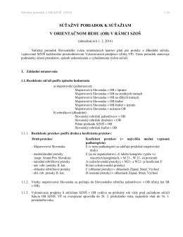 súťažný poriadok k súťažiam - Slovenský zväz orientačných športov