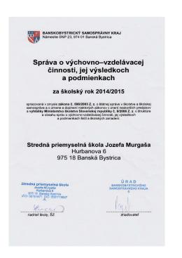 V Z O R - Stredná priemyselná škola Jozefa Murgaša
