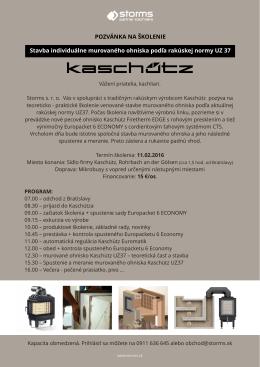 pozvánka na školenie KASCHUETZ 01