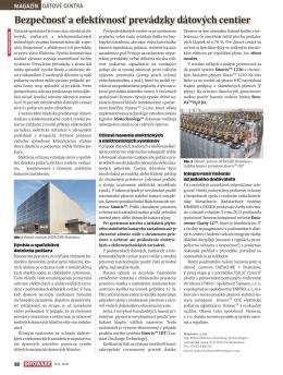 Bezpečnosť a efektívnosť prevádzky dátových centier