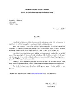 Gymnázium Leonarda Stöckela v Bardejove Krajská komisia