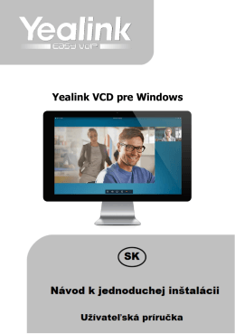 Yealink VCD pre Windows