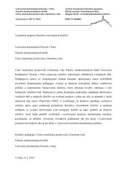 Univerzita Konštantína Filozofa v Nitre, Fakulta stredoeurópskych
