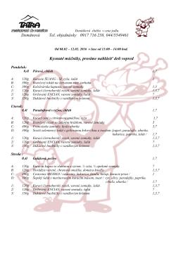 Denné menu na aktuálny týždeň vo formáte pdf