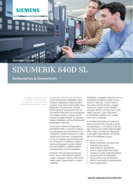 SINUMERIK 840D SL NC-SK tanfolyam leírás
