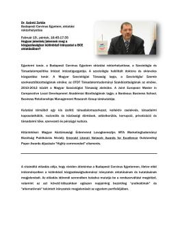 Dr. Szántó Zoltán - KETEG konferencia