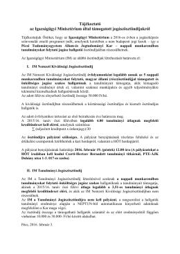 Tájékoztató - Pécsi Tudományegyetem Állam