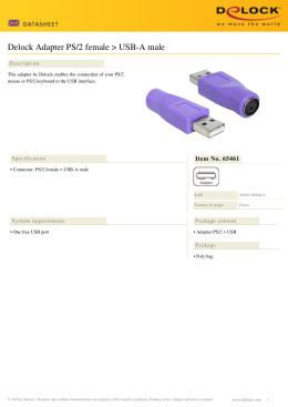Delock Adapter PS/2 female > USB