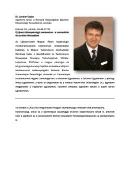 Dr. Lentner Csaba - KETEG konferencia