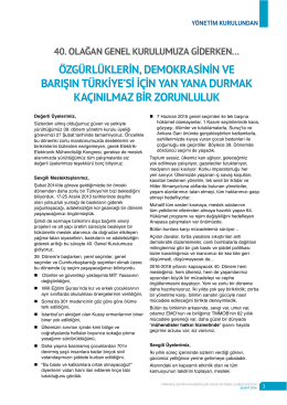 özgürlüklerin, demokrasinin ve barışın türkiye`si için yan yana