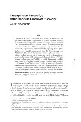 """""""Image""""dan """"İmge""""ye Attilâ İlhan`ın Edebiyat """"Savaşı"""""""