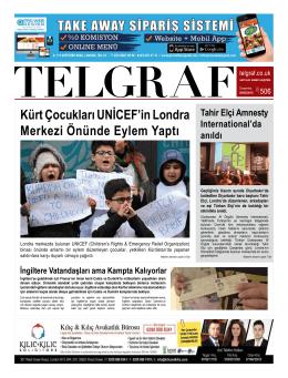 Kürt Çocukları UNİCEF`in Londra Merkezi Önünde