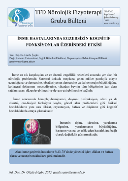 2016 Şubat Bülteni - TFD Nörolojik Fizyoterapi Grubu