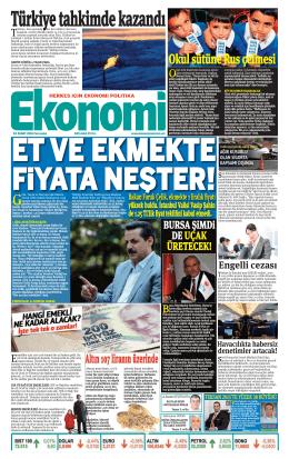 4 şubat 2016 - Ekonomi Gazetesi