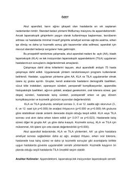 GENEL BİLGİLER - Mersin Üniversitesi