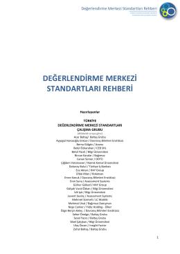değerlendirme merkezi standartları rehberi