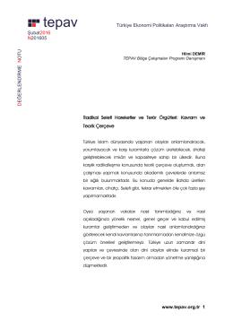 Türkiye Ekonomi Politikaları Araştırma Vakfı Şubat2016