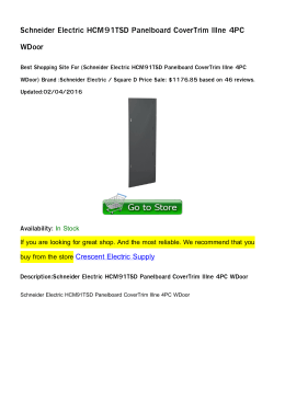 Schneider Electric HCM91TSD Panelboard CoverTrim Illne 4PC