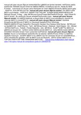 manual pdf yasin okuyan çocuk isimleri