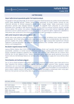 Haftalık Bülten - Türkiye İş Bankası