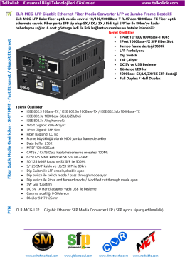 CLR-MCG-LFP Gigabit Ethernet Fiber Media Converter