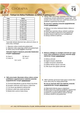 Türkiye`nin Nüfus Politikaları ve Nüfus Projeksiyonları