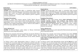 karşılaştırma cetveli bayburt üniversitesi önlisans ve lisans