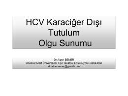 Dr.Alper ŞENER Onsekiz Mart Üniversitesi Tıp Fakültesi