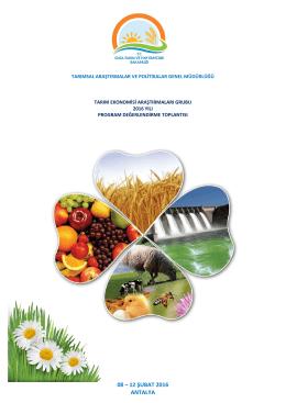 Tarım Ekonomisi Grubu - Gıda, Tarım ve Hayvancılık Bakanlığı