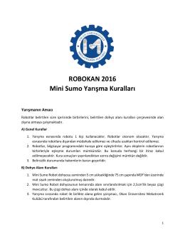 ROBOKAN 2016 Mini Sumo Yarışma Kuralları