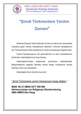 turkmenlere-yardim - Hollanda Diyanet Vakfı