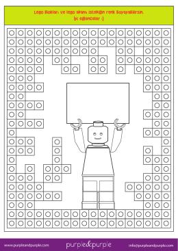 Lego blokları ve lego adamı istediğin renk