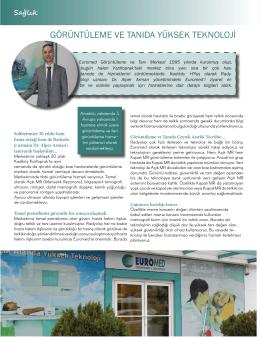 Basında Biz - Euromed Görüntüleme ve Tanı Merkezi