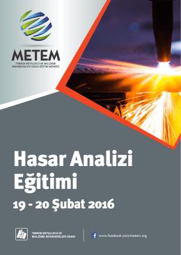 19 - 20 Şubat 2016 - Metalurji Mühendisleri Odası