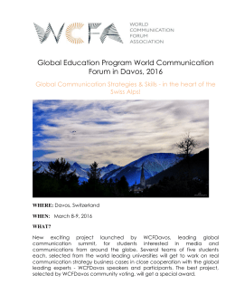 Global Education Program World Communication Forum in Davos