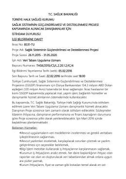 tc sağlık bakanlığı türkiye halk sağlığı kurumu sağlık sisteminin