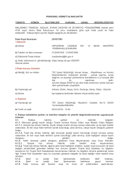 personel hizmeti alınacaktır türkiye kömür işletmeleri kurumu