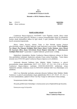 Düzce Adliyesi Basın Açıklaması 10