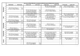 2015-2016 Bahar Yarıyılı Ders Programı