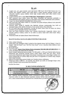 Kantin İhale İlanı - Aksaray Milli Eğitim Müdürlüğü