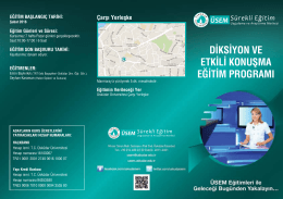 diksiyon ve etkili konuşma eğitim programı