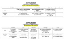 2015-2016 Bahar Dönemi Sağlık Kurumları Yönetimi Bilimsel