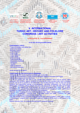v. ınternatıonal turkıc art, hıstory and folklore congress / art actıvıtıes