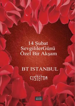 14 Şubat SevgililerGünü Özel Bir Akşam BT ISTANBUL
