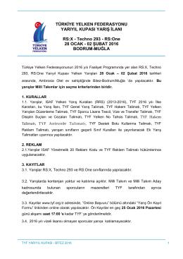 İndir - Türkiye Yelken Federasyonu