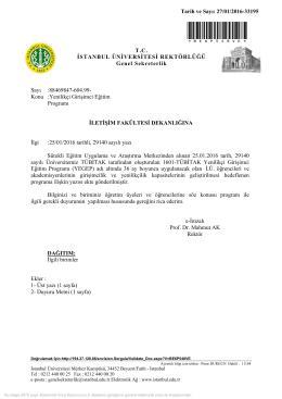 Yenilikçi Girişimci Eğitim Programı - İstanbul Üniversitesi | İletişim