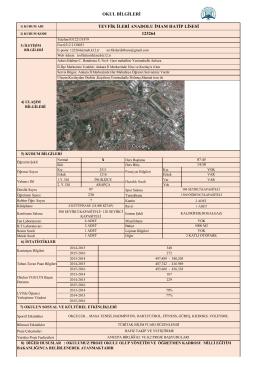 okul bilgileri formu - ANKARA / YENİMAHALLE