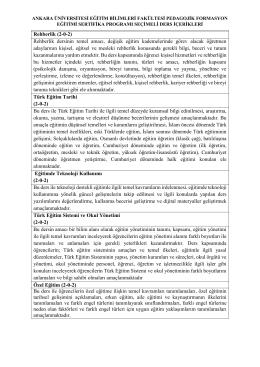Ders İçerikleri - Eğitim Bilimleri Fakültesi