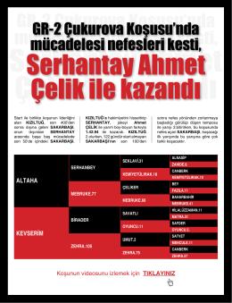 Serhantay Ahmet Çelik ile kazandı