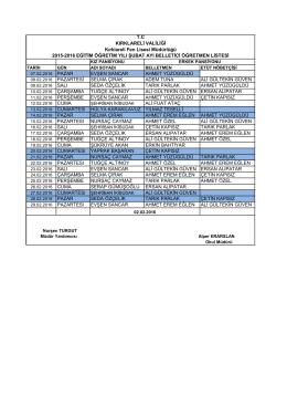 Şubat Belletmen Programı